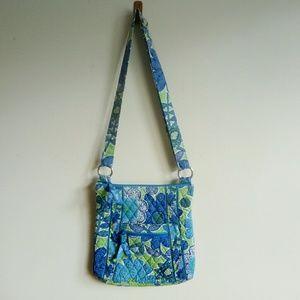 Vera Bradley green floral crossbody bag